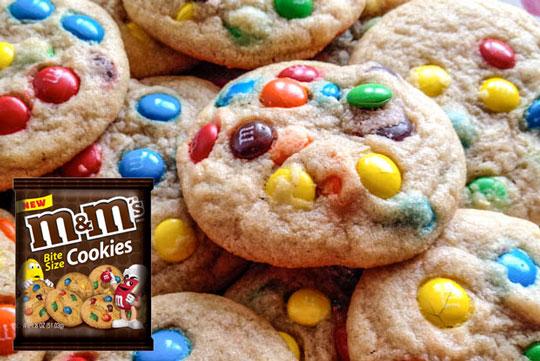 овсяное печенье m&m's